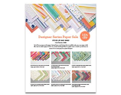 Designer Series Paper Sale Flyer