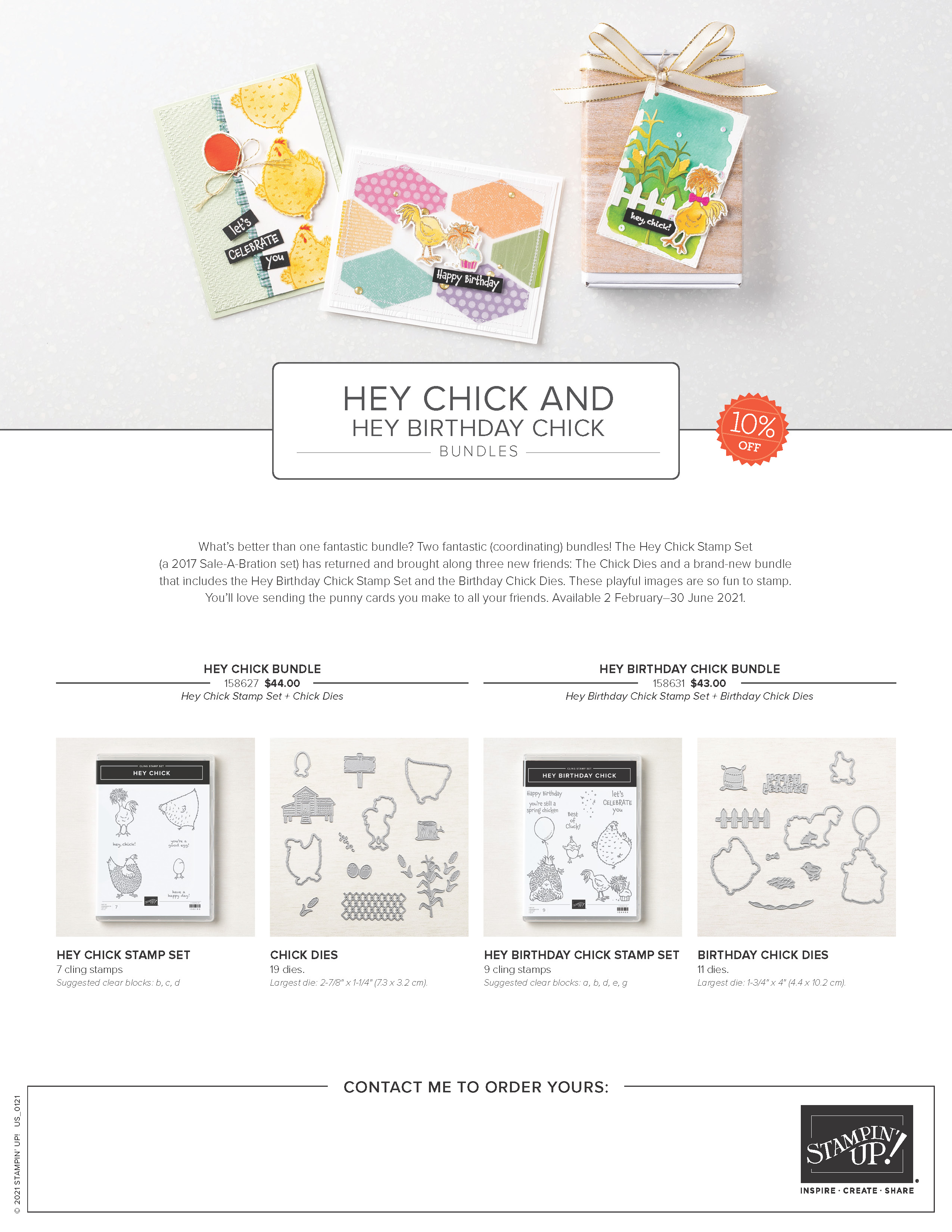 Hey Chick and Hey Birthday Chick Bundles Marketing Flyer US