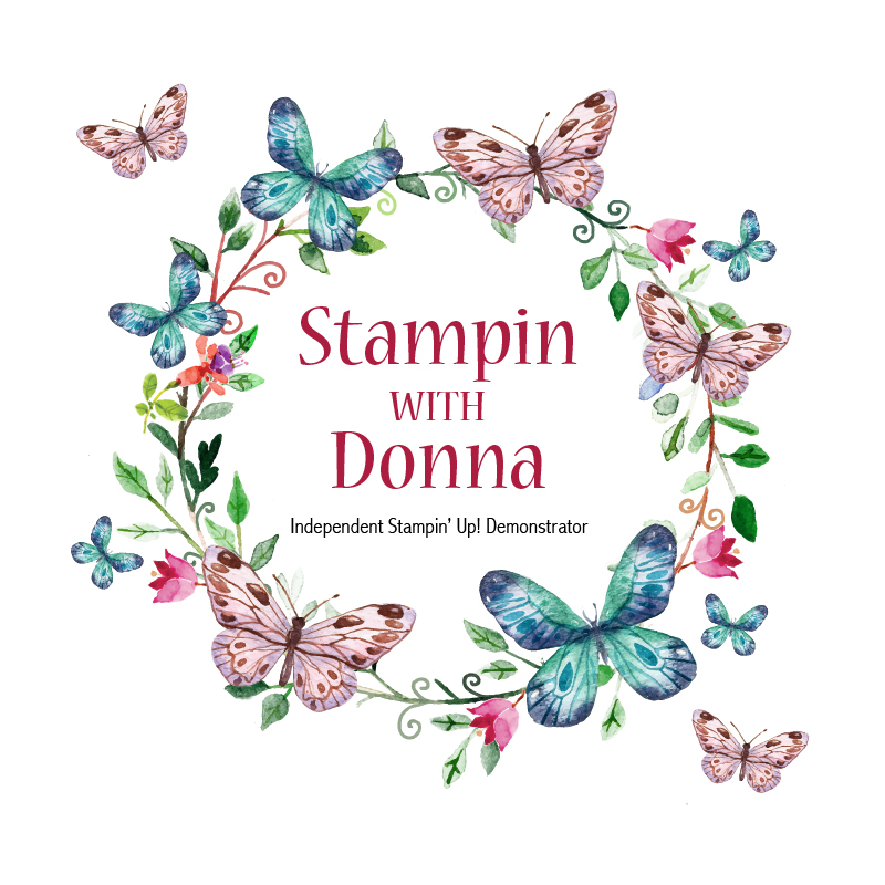 Stampin With Donna Butterfly Wreath Logo WebRes White Background